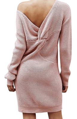 Screenshot_2020-01-22 BerryGo Women's Casual Long Sleeve Off The Shoulder Knitted Sweater Mini Dress Dusty Pink, One Size a[...]