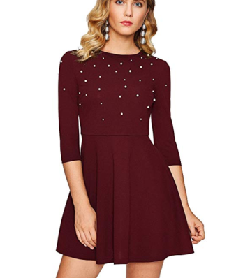 Screenshot_2020-01-22 Floerns Women's Beaded Fit and Flare Short Skater Dress at Amazon Women's Clothing store