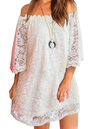 Screenshot_2020-01-22 MIHOLL Women's Off Shoulder Lace Shift Loose Mini Dress at Amazon Women's Clothing store