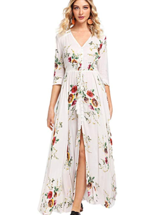 Screenshot_2020-01-22 Milumia Women's Button Up Split Floral Print Flowy Party Maxi Dress at Amazon Women's Clothing store