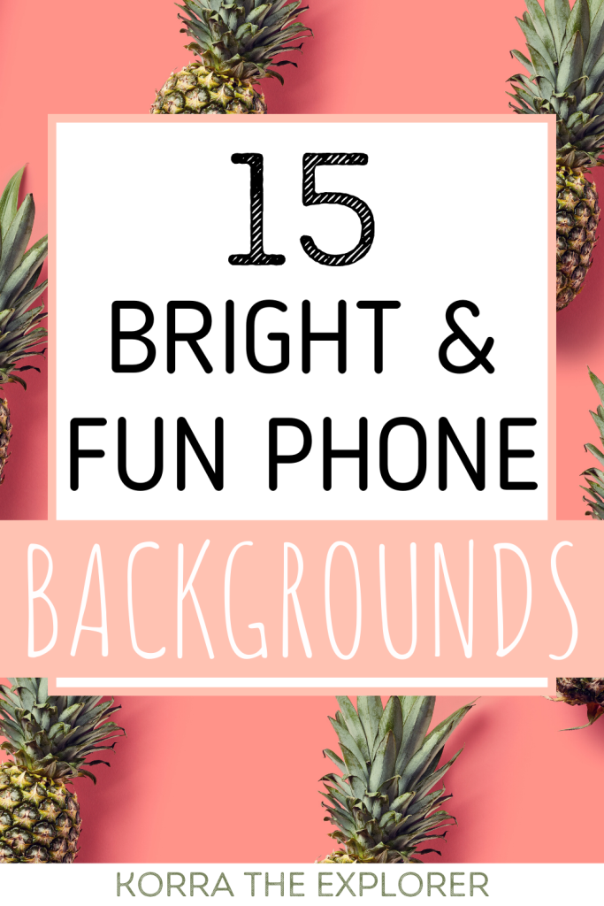 15 bright and fun phone backgrounds. Bright iphone screensavers. Bright color phone backgrounds. iPhone backgrounds for summer!